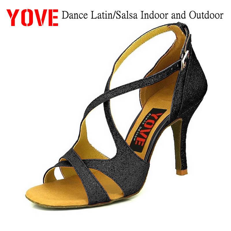 YOVE Style w122-30 Zapatos de baile Latino / Salsa Zapatos de baile para interiores y exteriores para mujeres