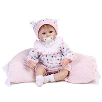 Real touch 18 40cm Silicone adorable Lifelike Baby newborn realistic magnetic pacifier bjd reborn dolls babies toy