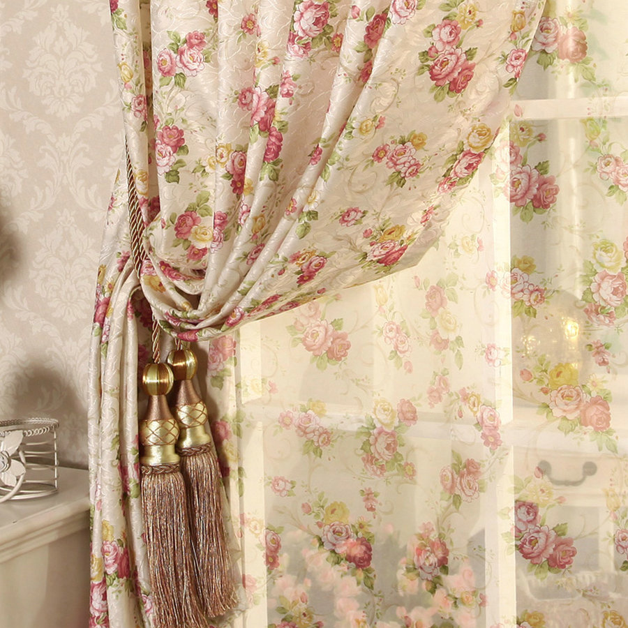 Cretonne Recommended New Flower Curtains Living Bedroom