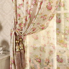 Cretonne Recommended New Flower Curtains Living Bedroom Korean Garden marriage room in Small Girl