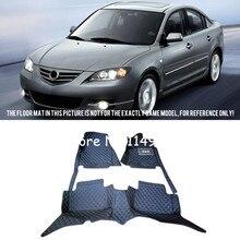 Для Mazda 3 2004 2005 2006 2007 стайлинга автомобилей интерьера ковры ковер спереди и сзади коврики вкладыши ковры 1 комплект