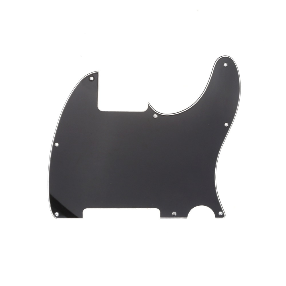 Musiclily 8 Hole Guitar Esquire Pickguard Tele Blank for Fender USA/Mexican Telecaster Standard Style Guitar Custom musiclily 6 string electric guitar bridge assembly saddles for fender tele telecaster tl electric guitar parts
