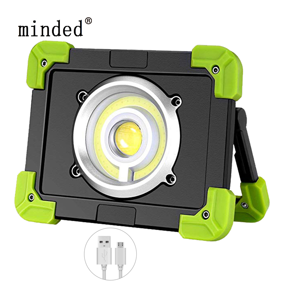 20W Portable Lanterns USB Rechargeable COB <font><b>LED</b></font> Floodlight Outdoor <font><b>Working</b></font> Light Camping Tent <font><b>Lamp</b></font> <font><b>Led</b></font> Spotlight Searchlight image