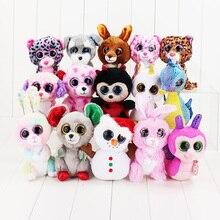 Ty Beanie Boos Plush Animal Dolls Toys Owl Unicorn Cat Elephant Penguin Leopard Foxy Dog Rabbit Giraffe Panda Monkey Baby Girl