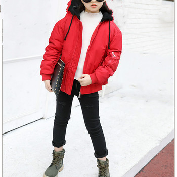 Hssczl Unisex Boys and Girls Down Coats2017 Brand Children Kids Down Jackets Short Hooded Solid Winter Parkas Outerwear 5-12a