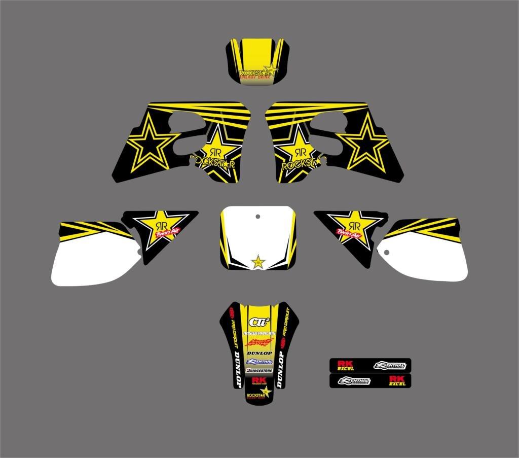 Moto Étoiles Équipe Graphique Milieux Décalques voiture Pour Suzuki RM125 RM250 RM 125 250 1993 1994 1995
