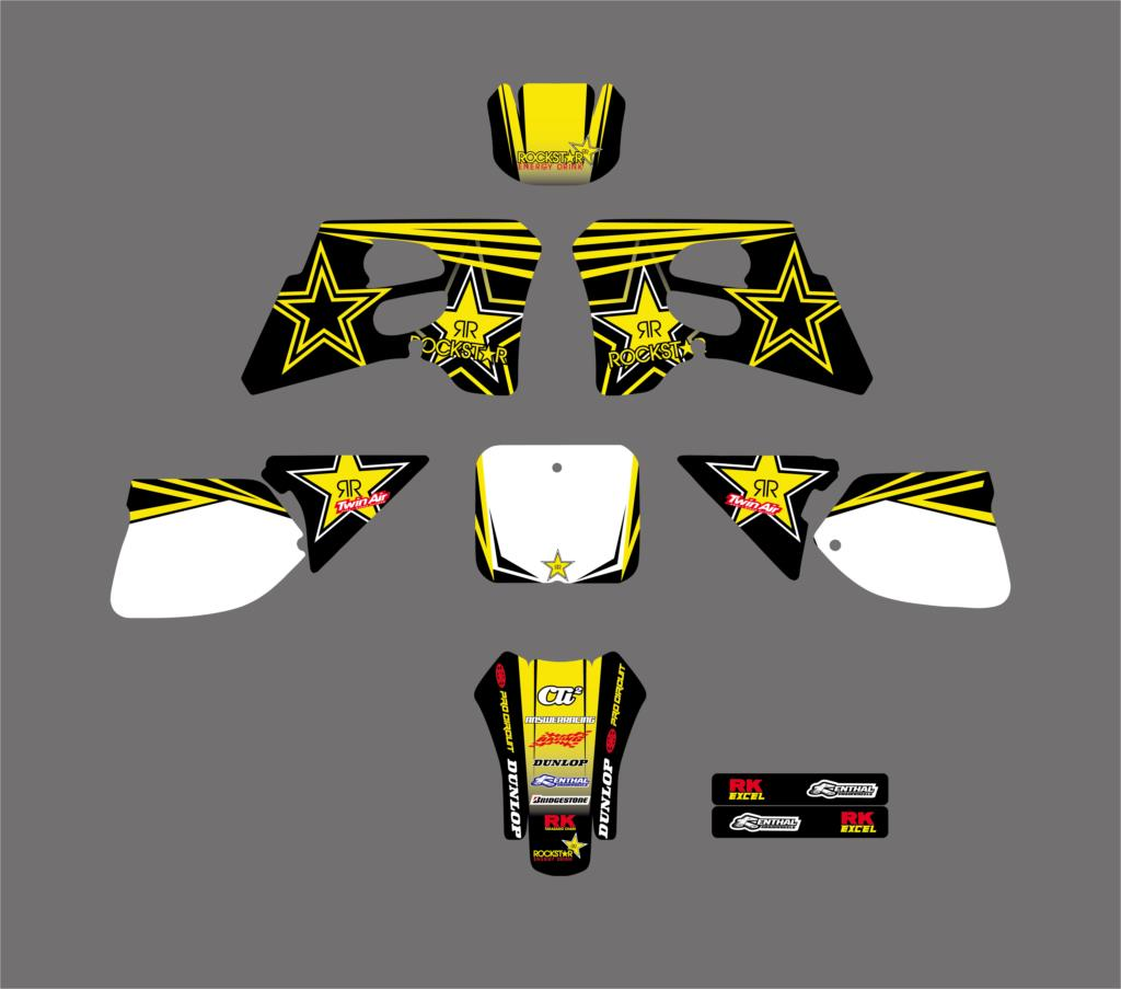 все цены на Motorcycle Star Team Graphics Backgrounds Decals Stickers For Suzuki RM125 RM250 RM 125 250 1993 1994 1995