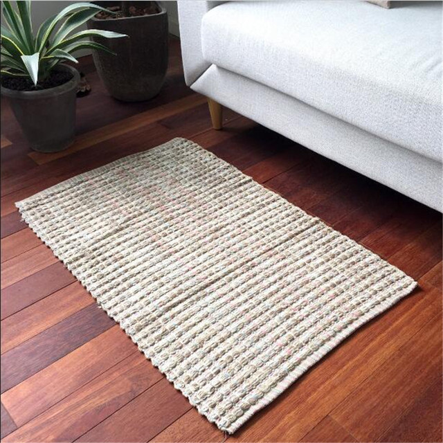 window floor hand carpet colorful thickening mats living item bedroom mat bedside woven bay weaving cotton room area