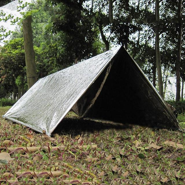 Outdoor Emergency Tent Sliver Mylar Thermal Emergency Shelter Reusable Waterproof Rescue Tent Outdoor Survival & Outdoor Emergency Tent Sliver Mylar Thermal Emergency Shelter ...