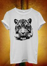 Leopard Tiger Cat Animal Printed Men Women Unisex T Shirt  Top Vest 1055 New Shirts Funny Tops Tee