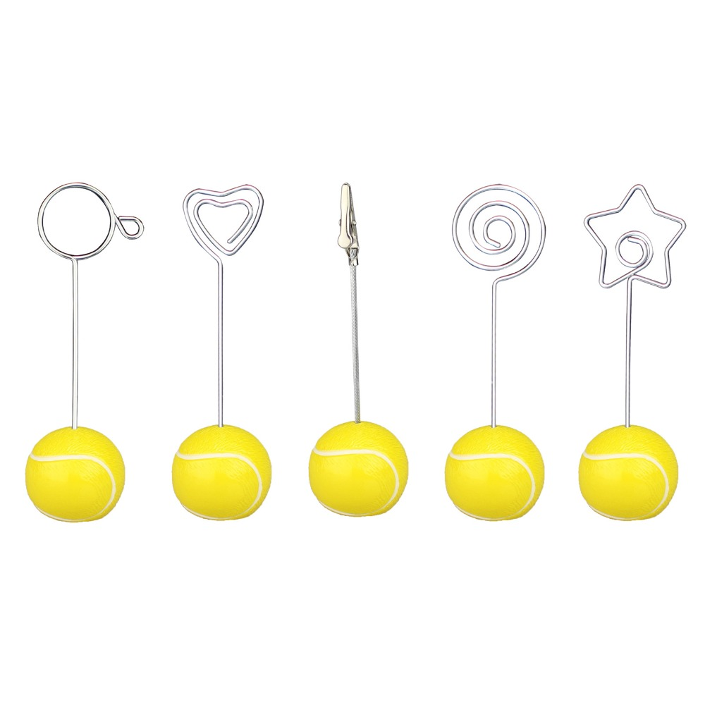 Tennis ball base wire photo clip/memo holder,stand table place card ...