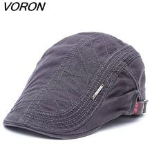 9618dc0fadbbb Gorros de boina de algodón nuevos VORON 2017 para hombres gorras planas de  verano casquetas Vintage