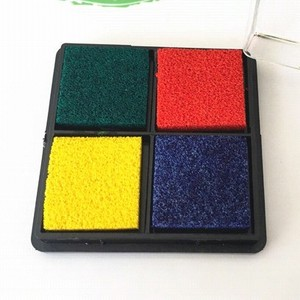4colors/set Cute Inkpad Craft Oil Based Diy Ink Pads for Rubber Stamps Scrapbook Wedding Decor Fingerprint Stamp Pad
