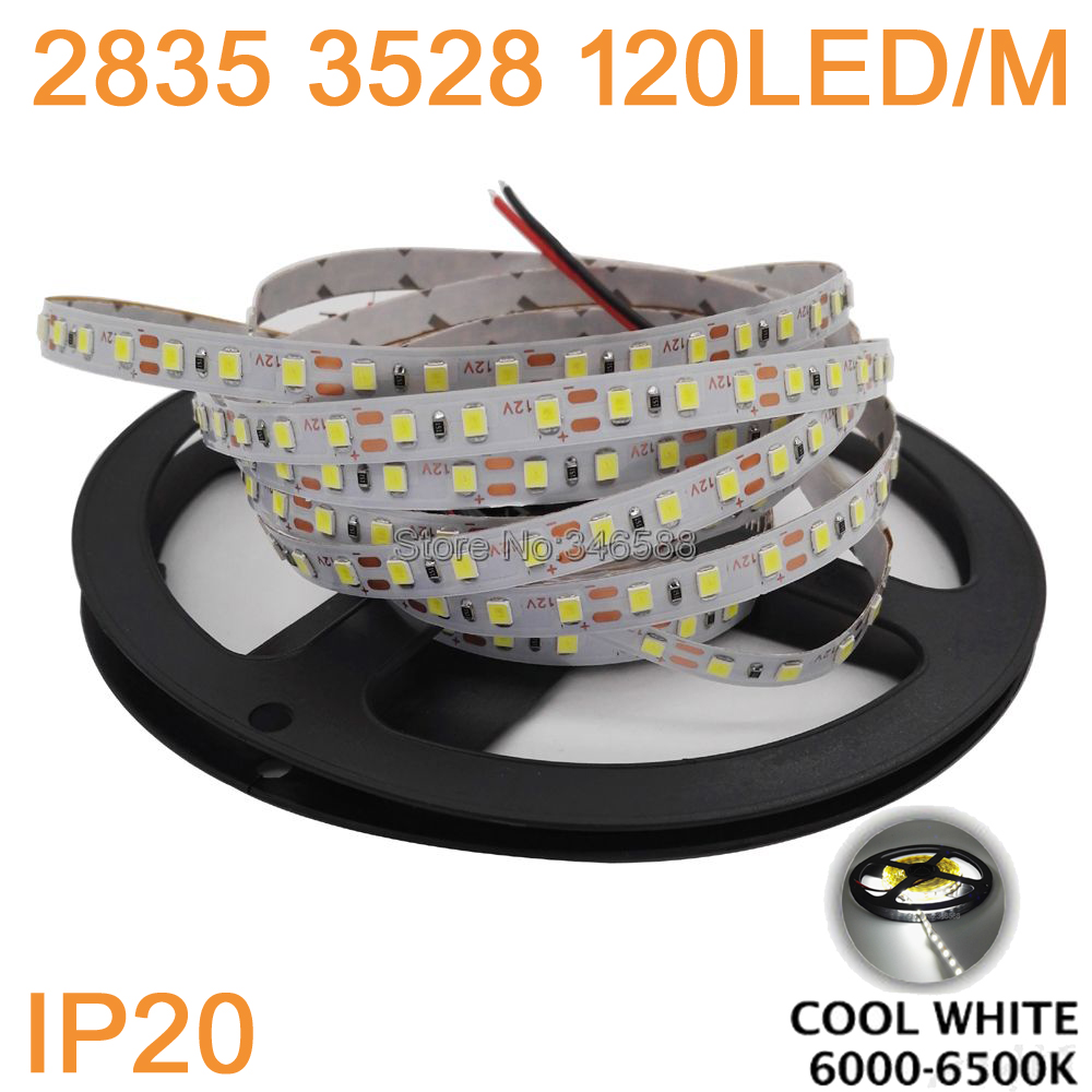 5m 600 LED 2835 SMD LED Strip, 12V Flexible LED Tape 120led/m Ribbon,white/warm white/blue/green/red/purple/pink IP20 IP65 3528 smd 120 led m led strip 5m 600 led 12v flexible light no waterproof white warm white blue green red yellow