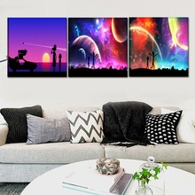 1Pcs/3Pcs Animated Comedy Rick And Morty Poster Modern Home Wall Decor Canvas Picture Art HD Print Painting For Kids Room
