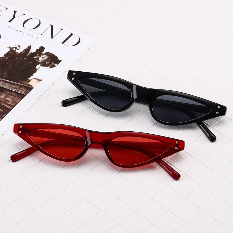 ZXWLYXGX 2018 Regalos Nuevos Cat Eye Sunglasses Mujeres Marca Small - Accesorios para la ropa - foto 5