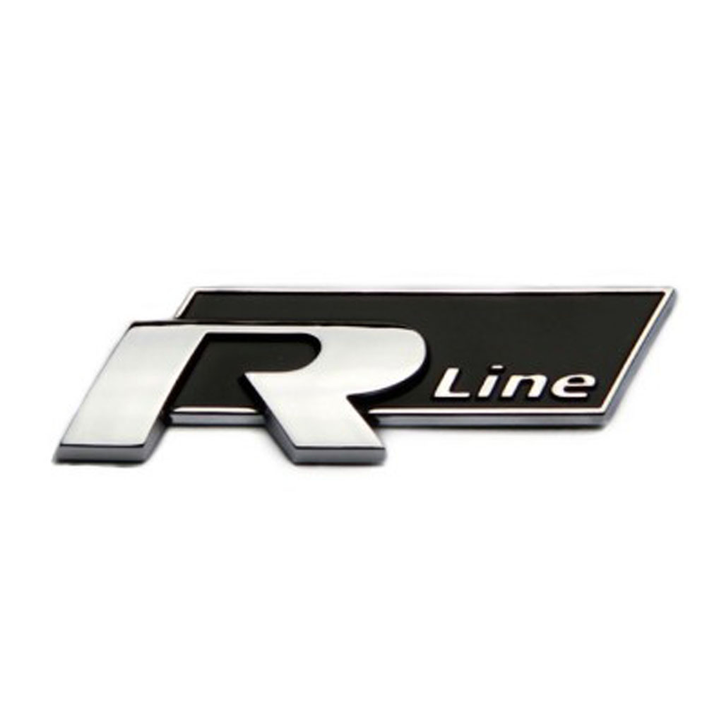 metal car auto rline stickers emblem r line badges for all. Black Bedroom Furniture Sets. Home Design Ideas