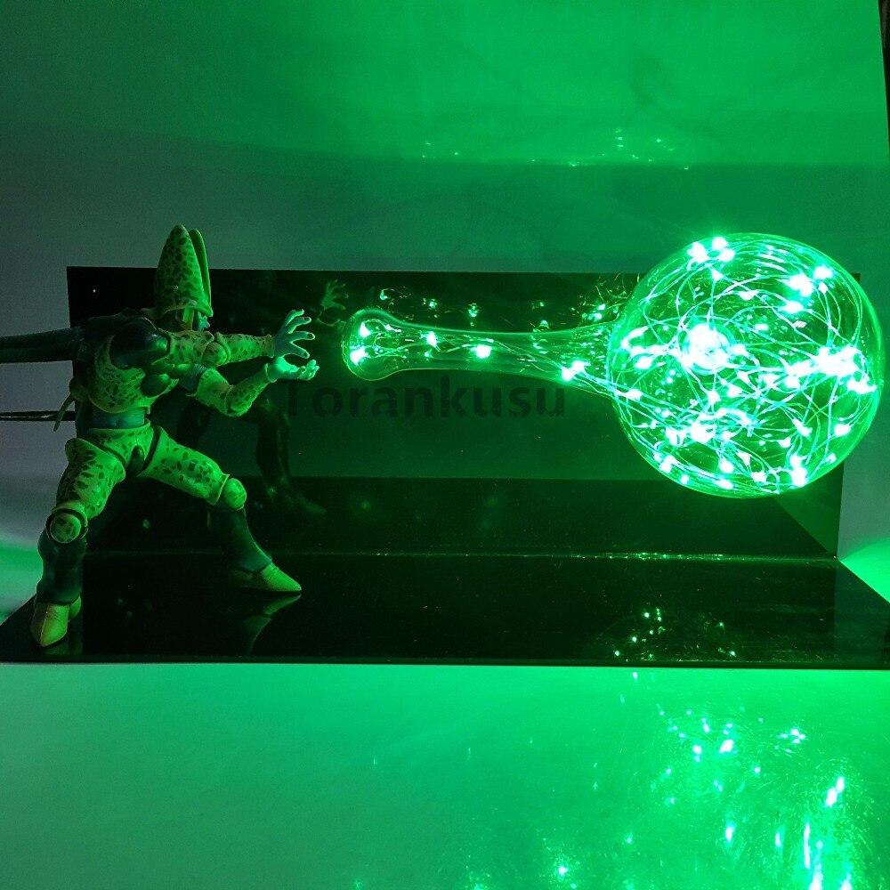 Dragon Ball Z Cell Action Figures Super Saiyan Kamehameha Led Light Anime Dragon Ball Super Goku Cell Model Toy Figurine DBZ anime dragon ball z angel goku super saiyan pvc action figure dragon ball z figurine son goku with cloud dbz diorama toy gift