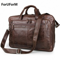 High Quality Famous Brand Men Classic Briefcase Genuine Leather Business Office 17inch Laptop Bag Lawyer Handbag