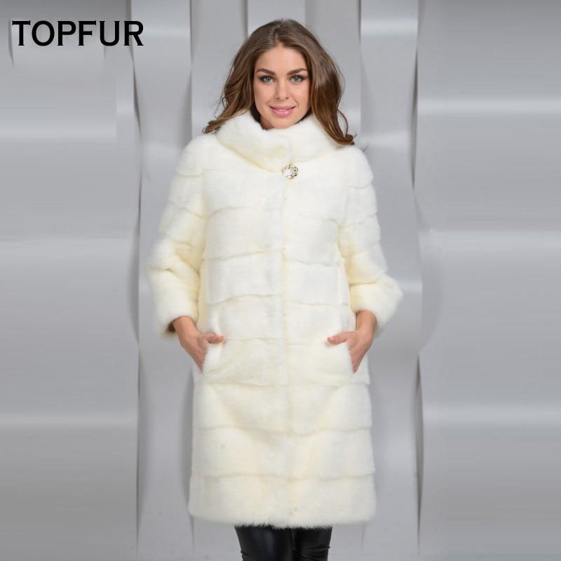 Color Qualité Topfur Luxe Vison Manteau Réel Mode Femmes Chaud Fourrure Outwear Natural Pour Femelle Haute Épais Naturel Long 2018 De SSWwEqrxHO