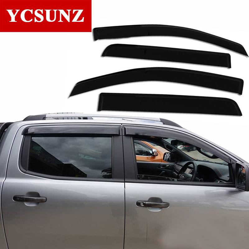 2012-2019 fenêtre visière pour Holden Chevy Colorado 2019 déflecteur pour chevrolet colorado 2019 sunz visière météo ombre Ycsunz - 5