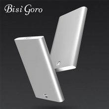 Bisi Goro 2019 business card holder metal stainless steel creative office aluminum card pack credit card holder rfid wallet(China)