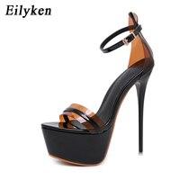 Eilyken Summer Extreme Sandals Platform Pumps PVC Transparent Women High Heel Bukle Strap Sexy Peep Toe Pumps Sandals Wedding