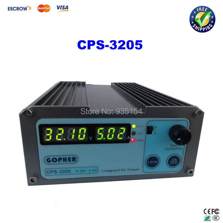 Free ship! Small Volume CPS-3205 32V 5A compact adjustable DC Power Supply  For Laptop Repairing, mA display free ship small volume cps 6011 60v 11a high efficiency adjustable dc power supply stabilized voltage supply