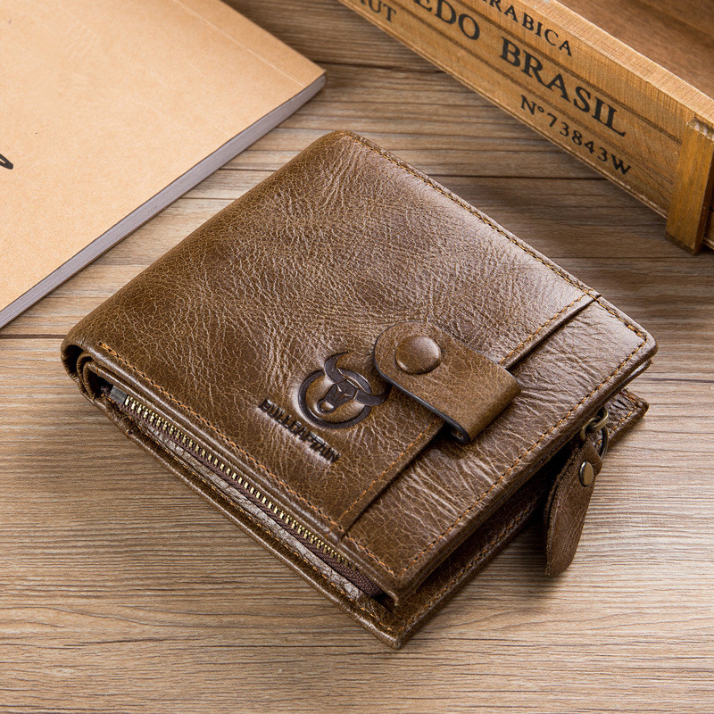 Genuine Leather Men Wallet Zipper&Hasp Men Wallet Short Male Clutch Multi-Functional Cowhide Coin Purse Credit Card Case contact s 2018 men wallet genuine leather men wallet crazy horse cowhide leather short male clutch coin purse card holder wallet
