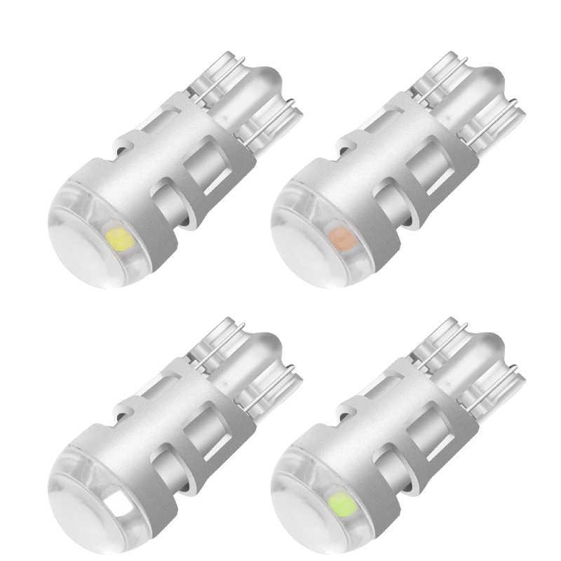 Luz led para coche T10 SMD 3030 W5W 192 501, luz blanca, Bombilla lateral, cuña, luz superior de estacionamiento, luz blanca, WY5W Canbus 1 Uds.