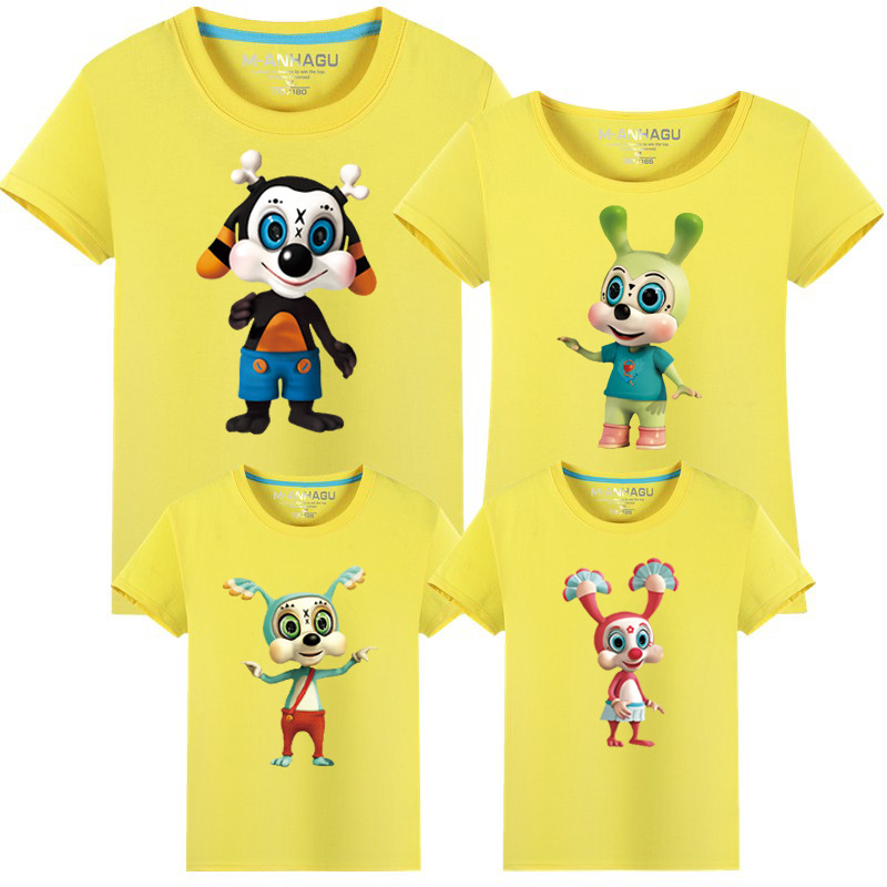 c96f7ee3f Family Reunion T Shirts Summer Cartoon Minions Family Matching Clothes  Father Mother Kids Son Children Top Tees Outfits 14 Color-in Matching Family  Outfits ...