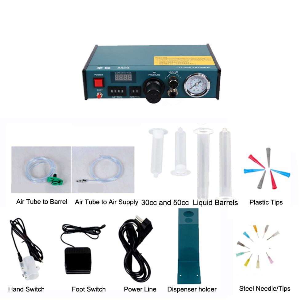1 78 PSI Auto Glue Dispenser 110V 983A PCB Solder Paste silica gel Liquid Adhesive Controller