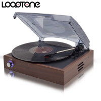 LoopTone 33 45 78 RPM Stereo Vinyl LP Record Player Turntable Players With 2 Built In