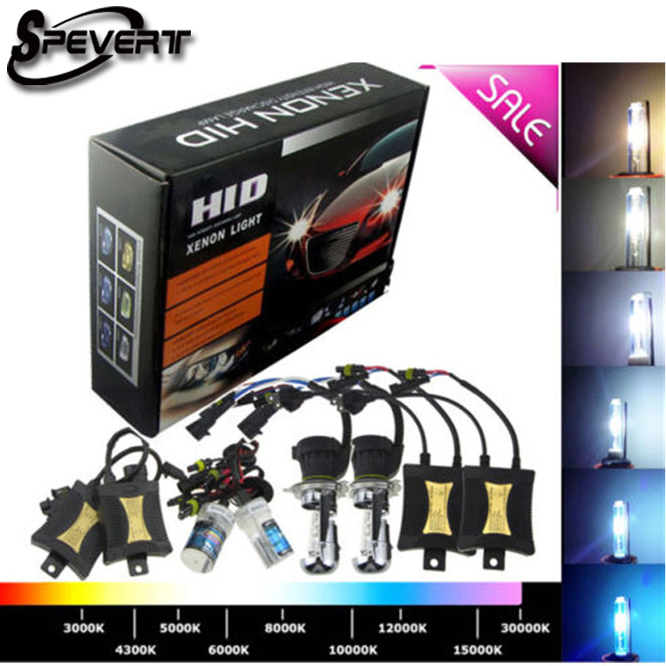 SPEVERT 55W Bi Xenon Light H1 H7 H4/9003 XENON HID KIT Bulbs SLIM BALLAST 6000K 8000K 12V Car Headlight Lamp стоимость