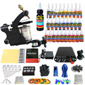 Solong Tattoo Kit 1 Pro Rotary Machine Gun Set 28 Tintas Alimentação Agulha Grips TK103-CN