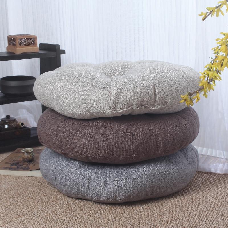 Tatami futon coussin épaississement cercle tissu fenêtre tapis de sol tapis de méditation japonais style méditants pad