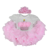 Wholesale Cheap Baby Doll Dress With Cake Pattern For 22 23 Inch Reborn Baby Pink Bubble