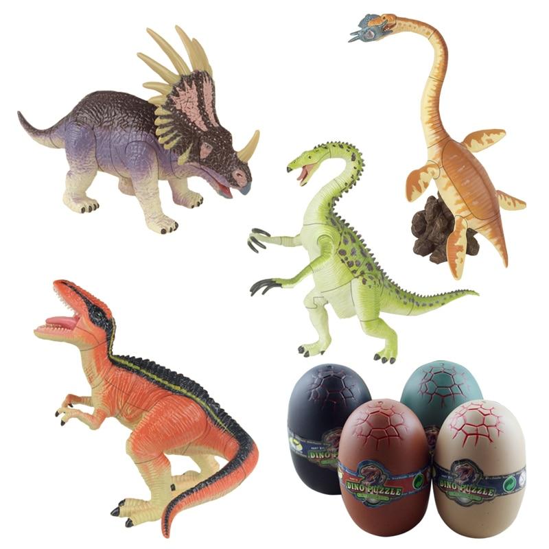 Jurassic Dinosaur Egg Toy 6x9cm Kids Plastic Puzzles Ramdom Figures Model