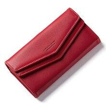 Дизайнерский кожаный кошелек женский конверт клатч кошелек длинный с Iphone Рождественский держатель монета карман дропшиппинг Горячая продажа