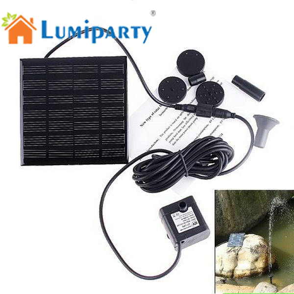 Lumiparty Solar Irrigation System water pump Battery Power Fountain Pool Water Sprinkler Pump Garden Tools Watering Outdoor