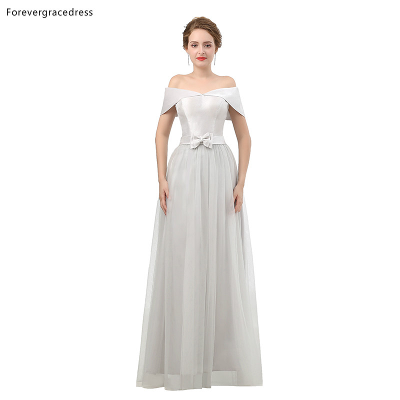 Forevergracedress Off Shoulder   Bridesmaid     Dresses   A Line Wedding Party Guest Maid of Honor Gowns Plus Size Custom Made