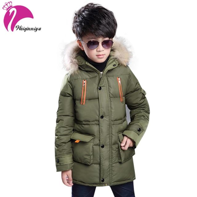 94dace340c68c Children's Down Jacket Warm Boys Clothes Baby Boys Winter Coats Hooded  Coats Kids Warm Clothing Winter Jacket Boys
