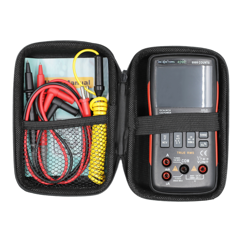 RM409B Digital Multimeter Button 9999 Counts With Analog Bar Graph AC/DC Voltage Ammeter Current Ohm Auto/ManualRM409B Digital Multimeter Button 9999 Counts With Analog Bar Graph AC/DC Voltage Ammeter Current Ohm Auto/Manual
