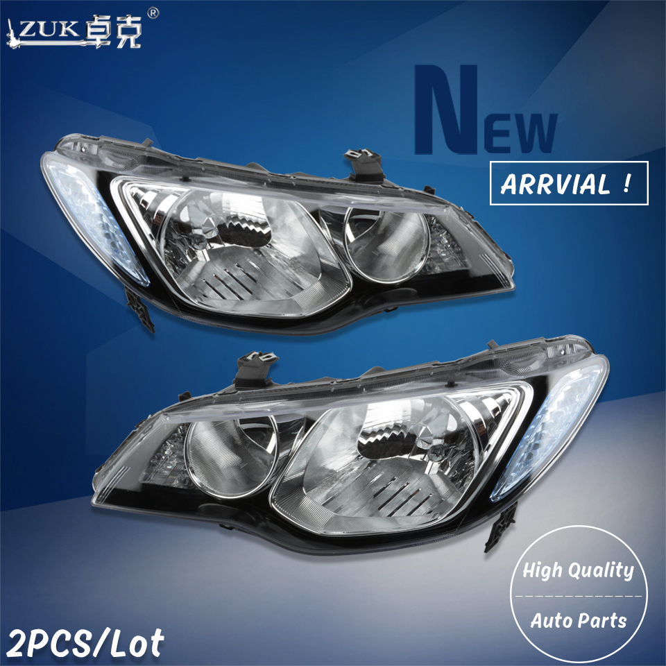 ZUK 2PCS High Quality Left and Right Front Headlight Headlamp Head Light Lamp For HONDA CIVIC
