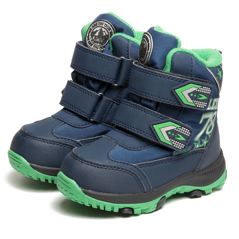 FLAMINGO Winter High Quality Waterproof Wool Keep Warm Kids Shoes Hook & Loop Anti-slipSize 23-28 Snow Boots for Boy 82M-QK-0938 men impression winter warm boots women high top sports outdoor running shoes navy blue trends athletic trainers walking sneakers
