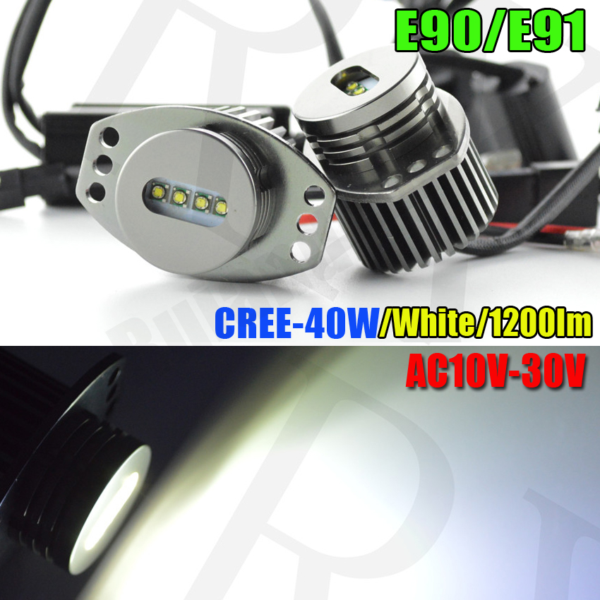 Free shipping 40W 4-LED LED Angel Eyes SMD Marker Halo Kit No Error Can-bus For BMW 3-series E90 e91 325i 328i 335i 330xi dunlop winter maxx wm01 185 60 r14 82t