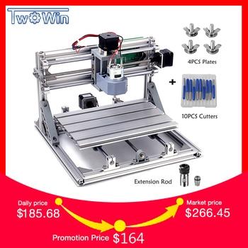 CNC3018 withER11 Diy mini CNC máquina de grabado láser Pcb PVC fresadora madera enrutador CNC 3018 mejores herramientas avanzadas