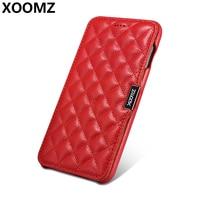 Xoomz for iPhone 7 caso de lujo lindo 3D suave acolchada Cuero auténtico golpes Armaduras carpeta Niñas teléfono caso para el iPhone 8 cubierta
