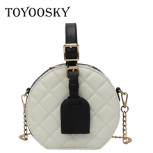 TOYOOSKY Round totes bag cute circle handbags quilted plaid women 2019 summer new chic small party crossbody bag drop shipping