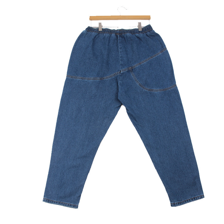 Basic Denim Jeans Classic 4 Season Women High Waist Jeans Vintage Mom Style Pencil Jeans High